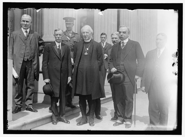 YORK, ARCHBISHOP OF. 2ND FROM RIGHT, ON STEPS OF SENATE WITH SAULSBURY AND OTHERS