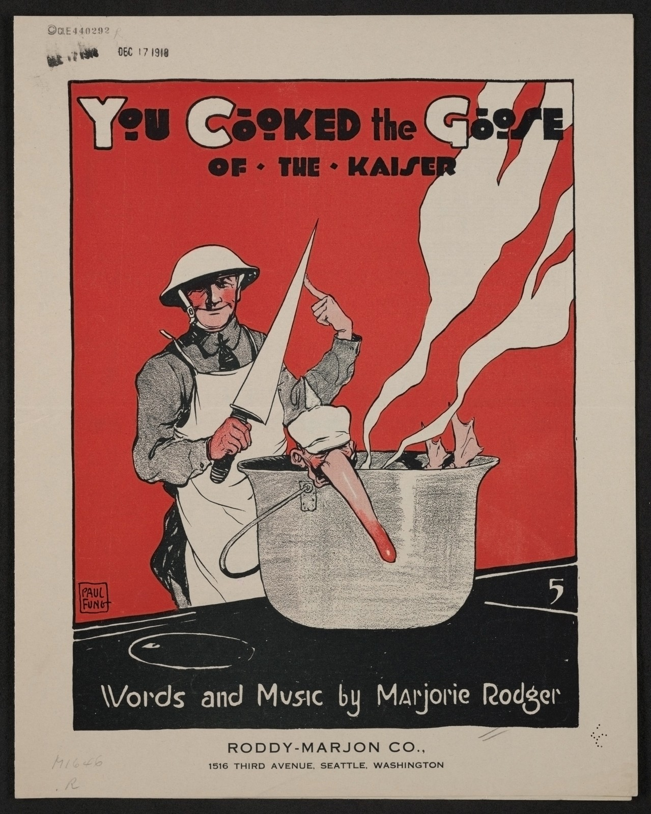 You cooked the goose of the Kaiser