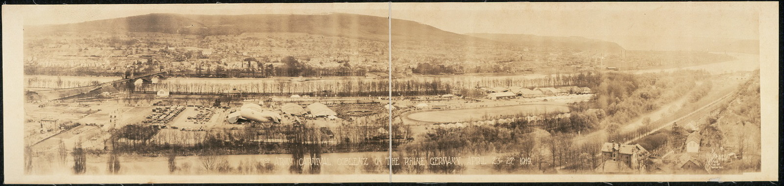 3rd Army carnival, Coblenz on the Rhine, Germany, April 23-27, 1919
