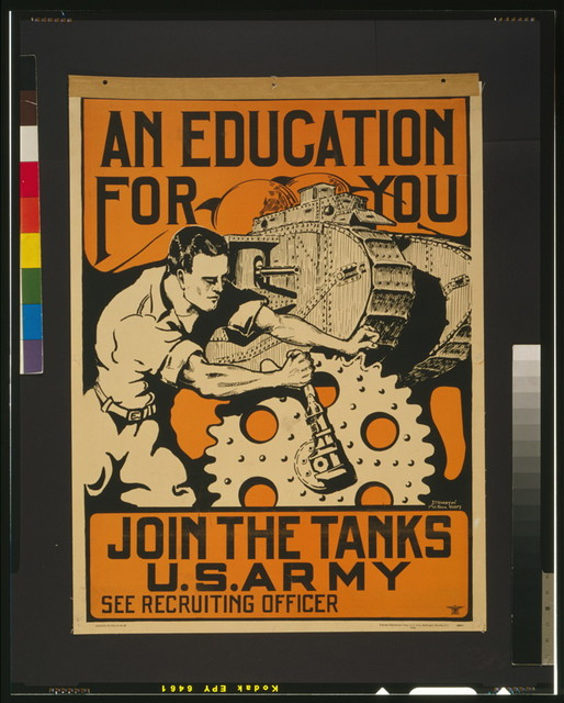 An education for you Join the tanks U.S. Army / / J.P. Wharton, 1st Lt. Tank Corps.