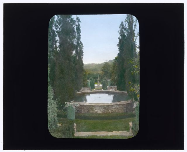 "[""Andorra,"" William Warner Harper house, Wyndmoor, Penn. Ornamental pool]"