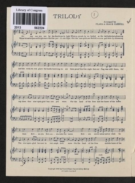 Anglo-Franco-American Trilody The star spangled banner ; La Marseillaise ; Rule Britannia