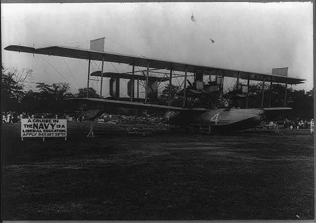 """Aviation """"NC4"""" first air machine to cross ocean."""