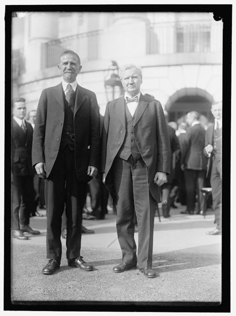 BABSON, ROGER W. OF LABOR DEPARTMENT. LEFT, WITH SEC. W.B. WILSON