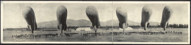 Balloons at rest, Arcadia, Cal.