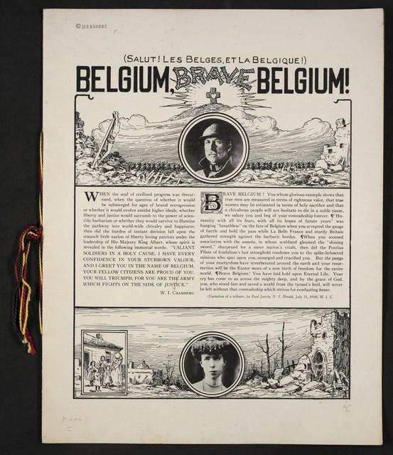 Belgium, brave Belgium! = Salut! Les Belges et la Belgique!