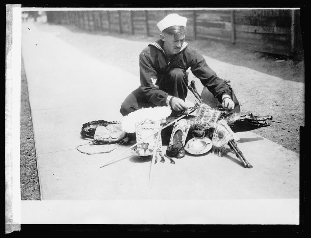 Boatswani mate of U.S.S. Arizona who has traveled 29447 miles from Nov. 18/18 to June 30/19 & his souvenirs