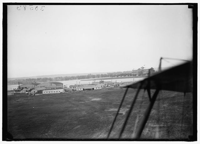 BOLLING FIELD. FIRST AIRPORT AT WASHINGTON, D.C. VIEW OF ANACOSTIA NAVAL AIR STATION AND PART OF BOLLING FIELD