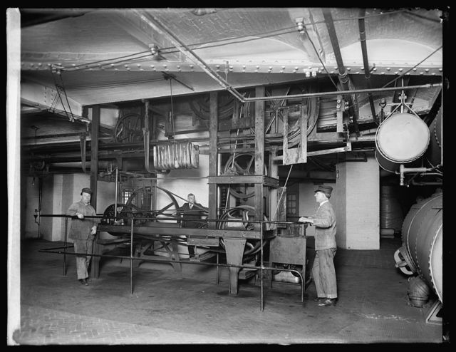 Book conveyer machinery, [Library of Congress, Washington, D.C.]