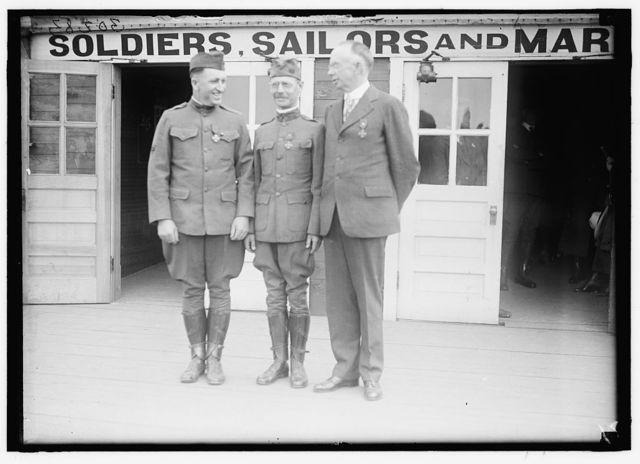 COLLARDET, GENERAL, FRENCH ARMY. DECORATING Y.M.C.A. SECRETARIES