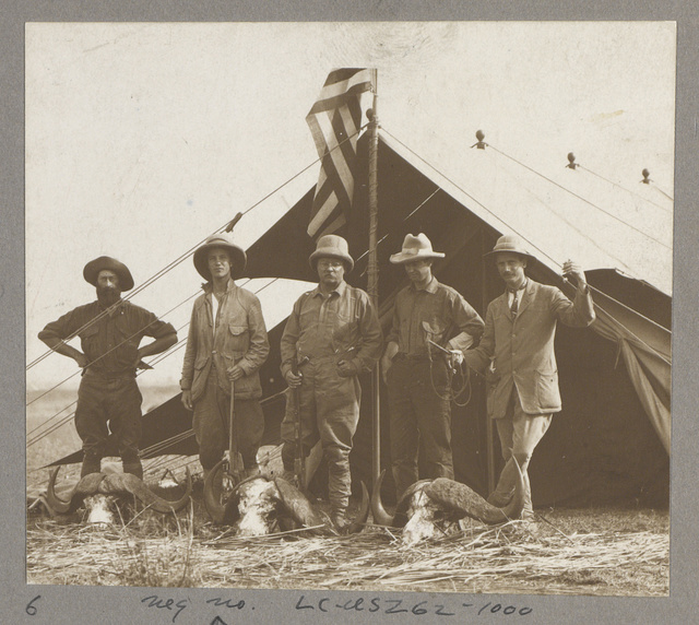 Cunningham[e], Kermit, Col. Roosevelt, Heller & Heatl[e]y at Buffalo Corner