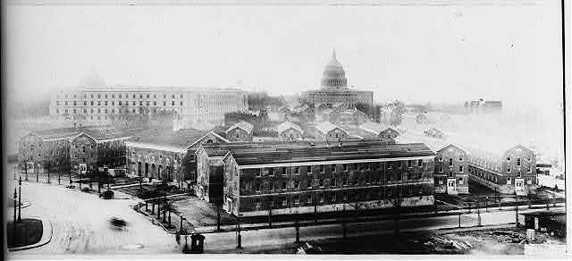 [D.C. Wash. - Capitol from Union Station showing government workers' homes in Union Station Plaza]