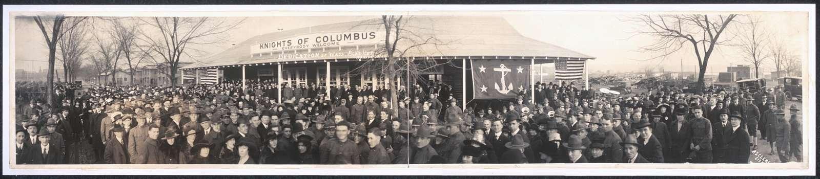Dedication of Wash. B.ck's Hut, Jan. 19th, 1919