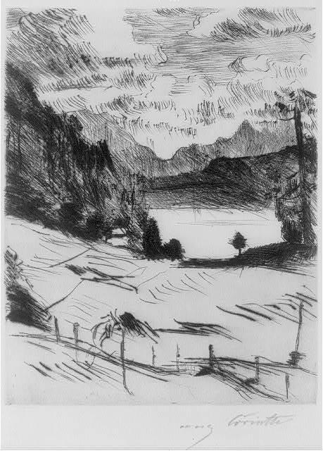 [Der Walchensee] / Corinth.