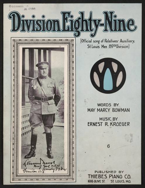Division Eighty-Nine (official song of Relatives' Auxiliary, St. Louis Men 89th Division)