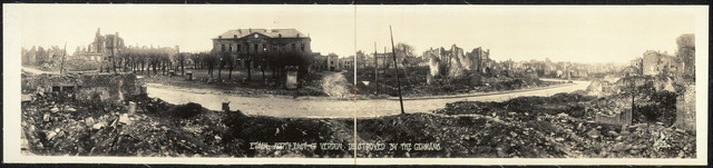 Etain, north-east of Verdun, destroyed by the Germans
