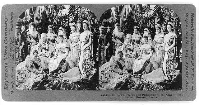European queens and princesses at the Czar's coronation, Moscow, Russia
