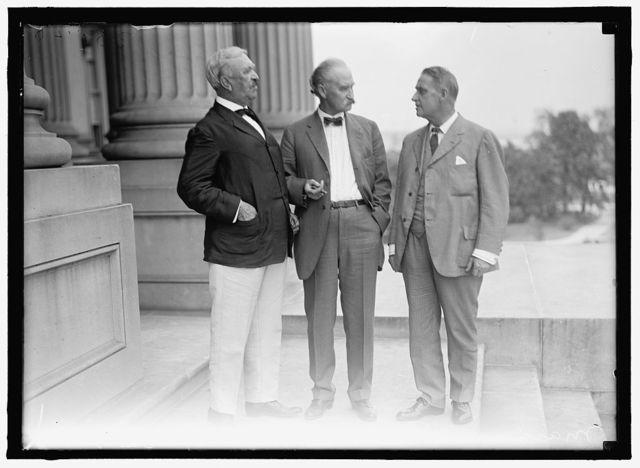 FALL, ALBERT BACON. SENATOR FROM NEW MEXICO, 1912-1921; SECRETARY OF THE INTERIOR, 1921-1923. MARCUS SMITH; FALL; SENATOR BRANDEGEE