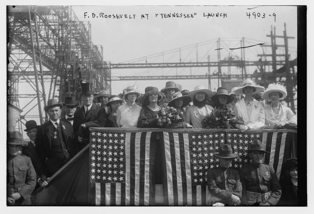 """F.D. Roosevelt at """"Tennesee"""" launch"""