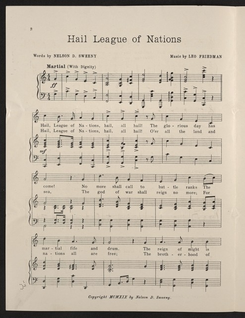 Hail League of Nations