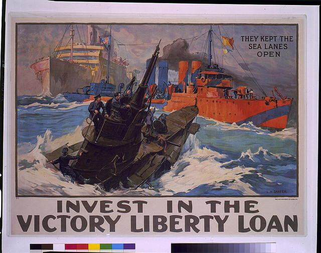 Invest in the victory liberty loan they kept the sea lanes open / / L.A. Shafer.