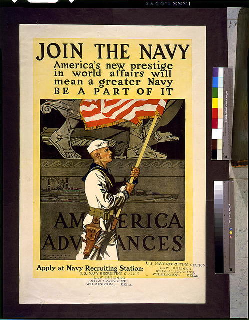 Join the Navy; America's new prestige in world affairs will mean a greater Navy. Be a part of it. America advances / Herbert Paus.