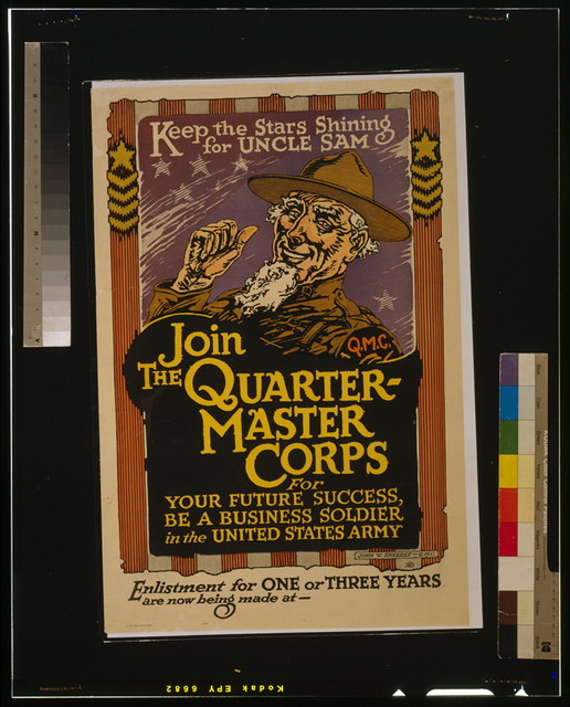Keep the stars shining for Uncle Sam - Join the Quartermaster Corps / John W. Sheeres - Q.M.C.