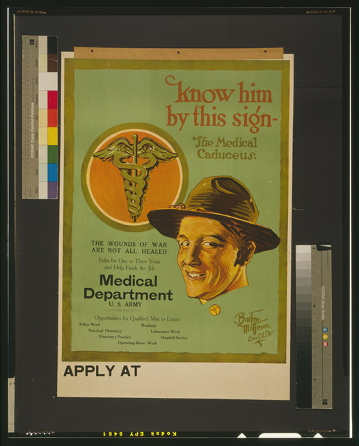 Know him by this sign - the medical caduceus The wounds of war are not all healed / / Bartow Matteson, Lieut. U.S.A.