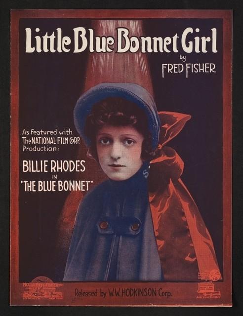 Little blue bonnet girl