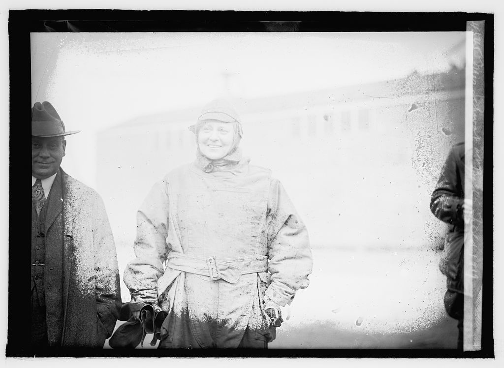Mrs. Schwat at Bolling Field, 1919