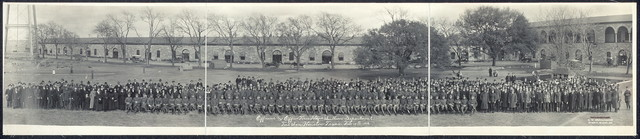 Officeres [sic] and Office Force Hdqrs., Southern Department, Fort Sam Houston, Texas, Feb. 18th 1919