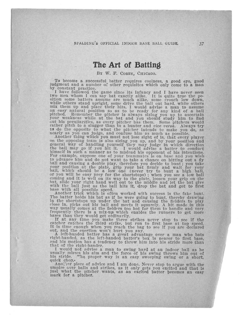 Official indoor base ball guide containing the constitution, 1919-1920