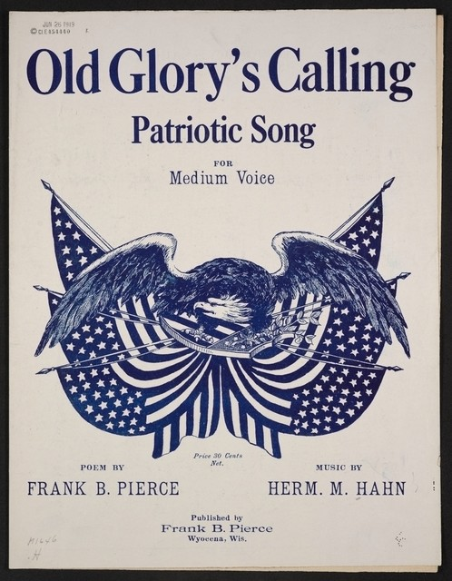Old glory's calling patriotic song for medium voice