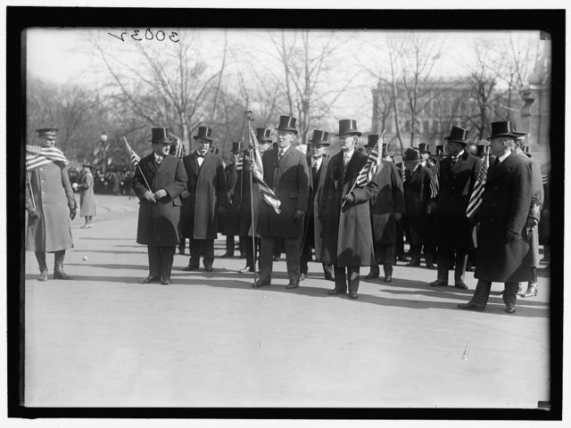 PARADES WELCOME HOME PARADE FOR PRESIDENT WILSON; HARPER, ROBERT N., D.C. BANKER; GUDE, WILLIAM F., OF D.C.
