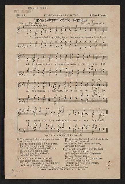 Peace hymn of the republic