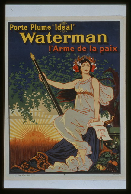 Porte plume 'Ideal' Waterman l'arme de la paix
