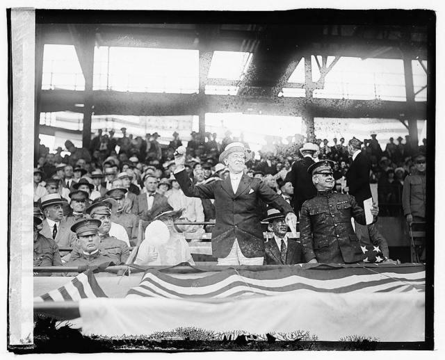 Pres. Wilson at Army & Navy ball game, 1919