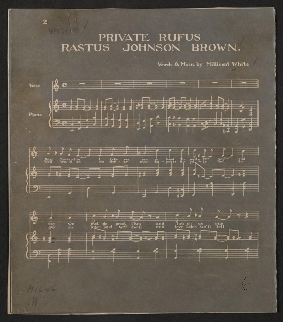 Private Rufus Rastus Johnson Brown