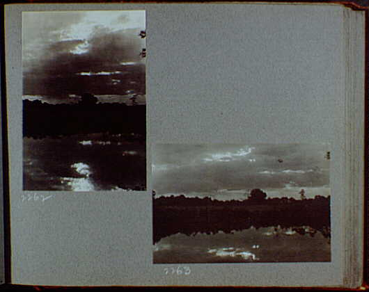 Reference prints, 1919-1920, numbers 2133-2377. Dark, cloudy sky over river or lake II
