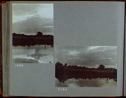 Reference prints, 1919-1920, numbers 2133-2377. Dark, cloudy sky over river or lake I