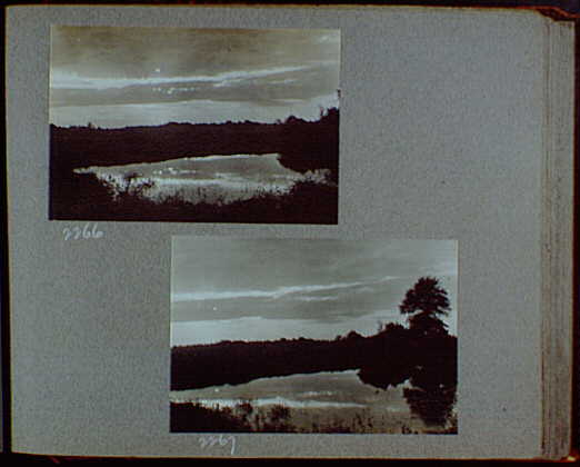 Reference prints, 1919-1920, numbers 2133-2377. Dark, cloudy sky over river or lake III