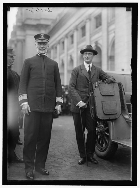 ROOSEVELT, FRANKLIN DELANO. WITH ADMIRAL SIMS