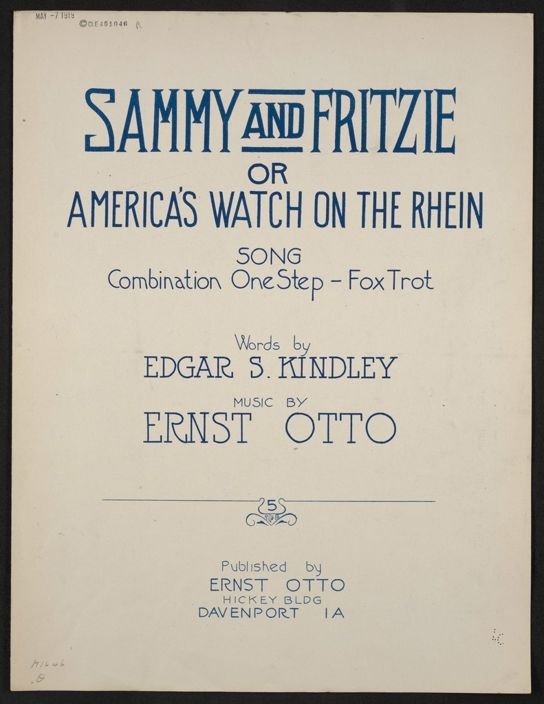 Sammy and Fritzie, or, America's watch on the Rhein song : combination one step - fox trot