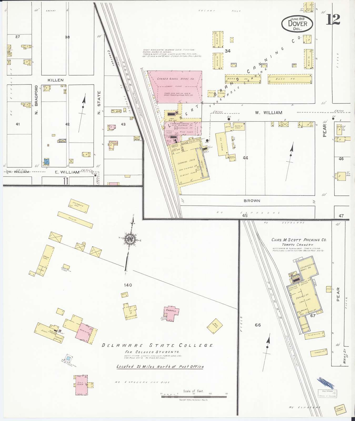 Sanborn Fire Insurance Map from Dover, Kent County, Delaware