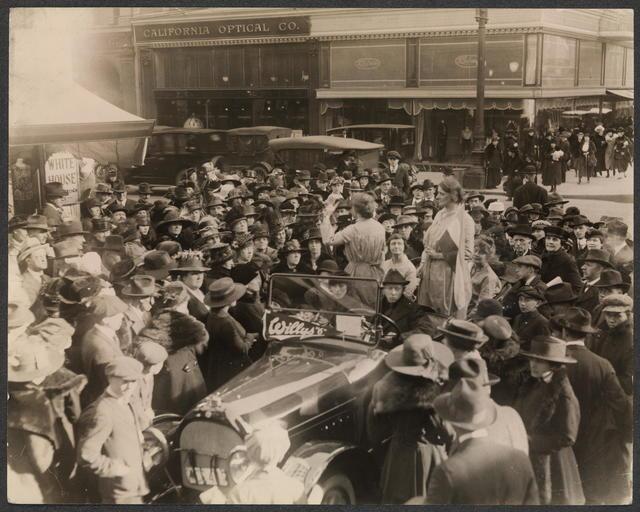 "[Speakers on ""Prison Special"" tour, San Francisco, 1919.]"