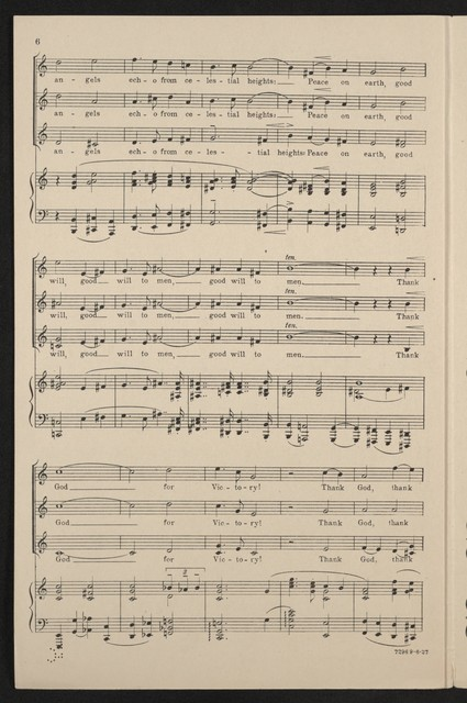 Thank God for victory! Chorus for women's voices ; op. 125 no. 1b