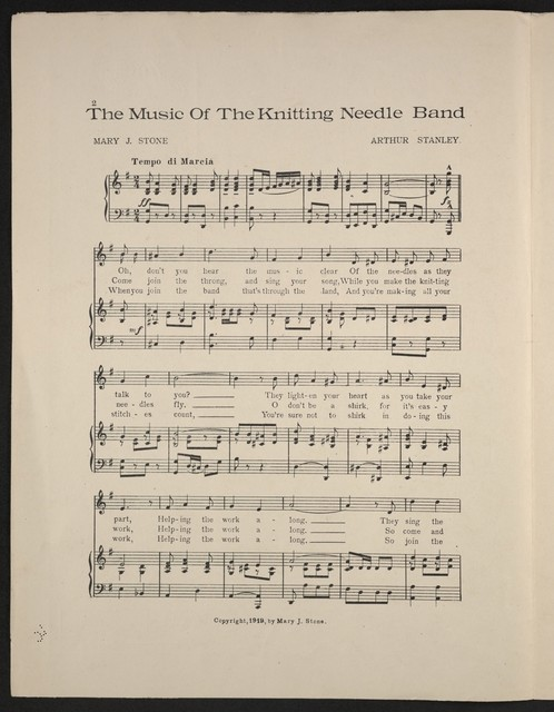 The  music of the knitting needle band