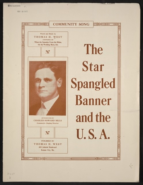 The  star spangled banner and the USA community song