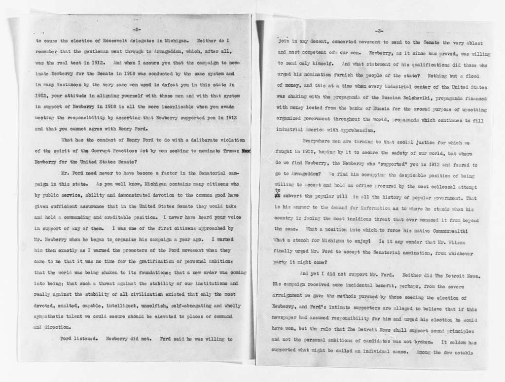 Theodore Roosevelt Papers: Series 1: Letters and Related Material, 1759-1919; 1919, Jan. 1-Aug. 10