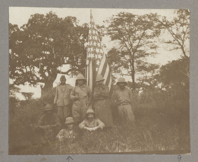 [Theodore Roosevelt with members of his party on safari in Africa]